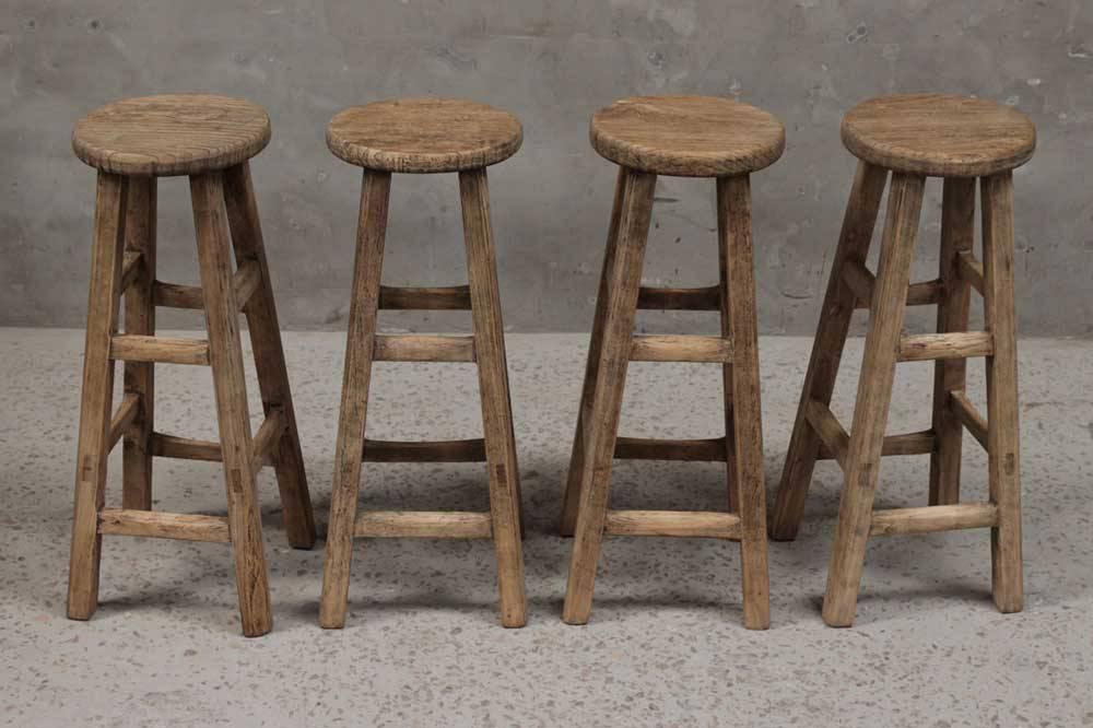 petite lily interiors tabouret de bar rond naturel bois. Black Bedroom Furniture Sets. Home Design Ideas