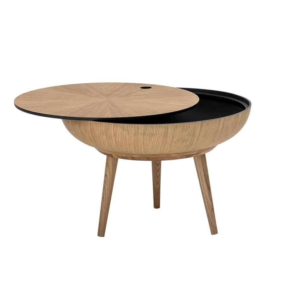Bloomingville Table à café ronde Scandinave / Ethnique - chêne - Ø60xh40cm - Bloomingville