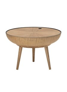Bloomingville Table à café ronde Scandinave / Ethnique - Roble - Ø60xh40cm - Bloomingville