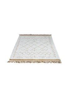 Bloomingville Tapis Scandinave en coton - blanc - 200x120cm - Bloomingville
