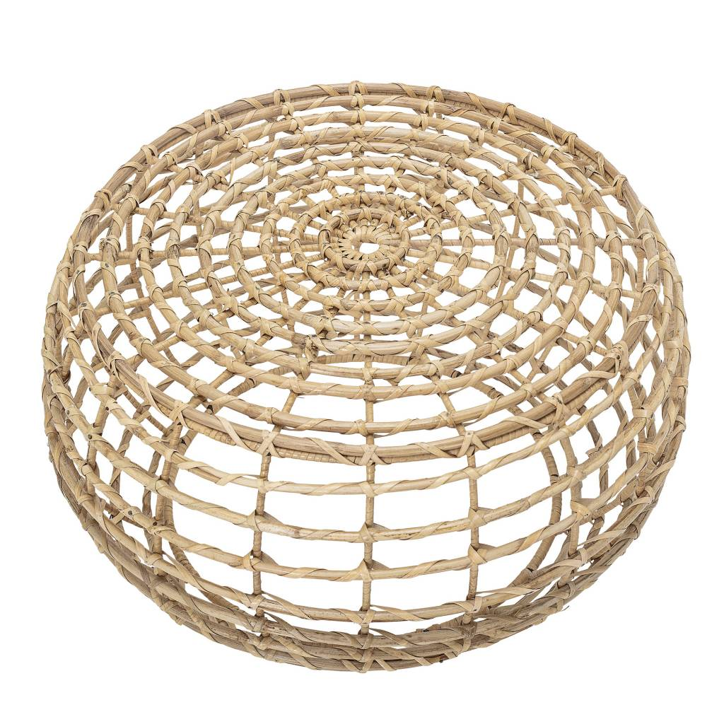 Bloomingville Barel coffee table round - Cane - Natural - Ø60xH35cm - Bloomingville