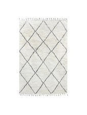 HK Living Berber rug - white with black diamond pattern - 200x300cm - HK Living