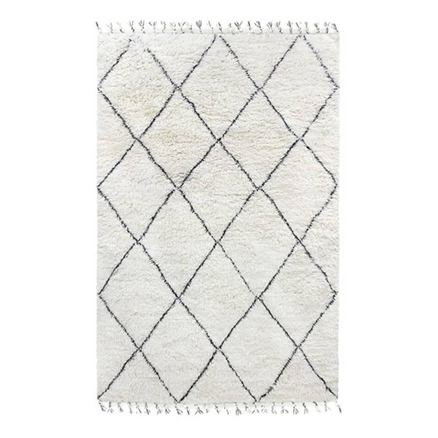 HK Living Berber rug - white with black diamond pattern  - 200x300cm - HK Living