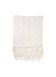 HK Living manta de lino - blanca - 130x170cm - HK Living