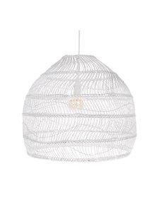 HK Living Lampara de mimbre - blanco - Ø60xh50cm - HK Living