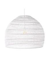 HK Living White wicker pendant lamp - Ø80cm - HK Living