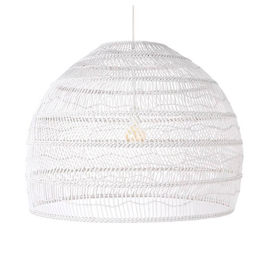 HK Living White wicker pendant lamp - Ø80cm - HK Living