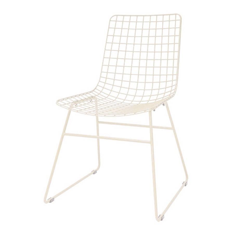 HK Living Chaise Wire métal crème HK Living