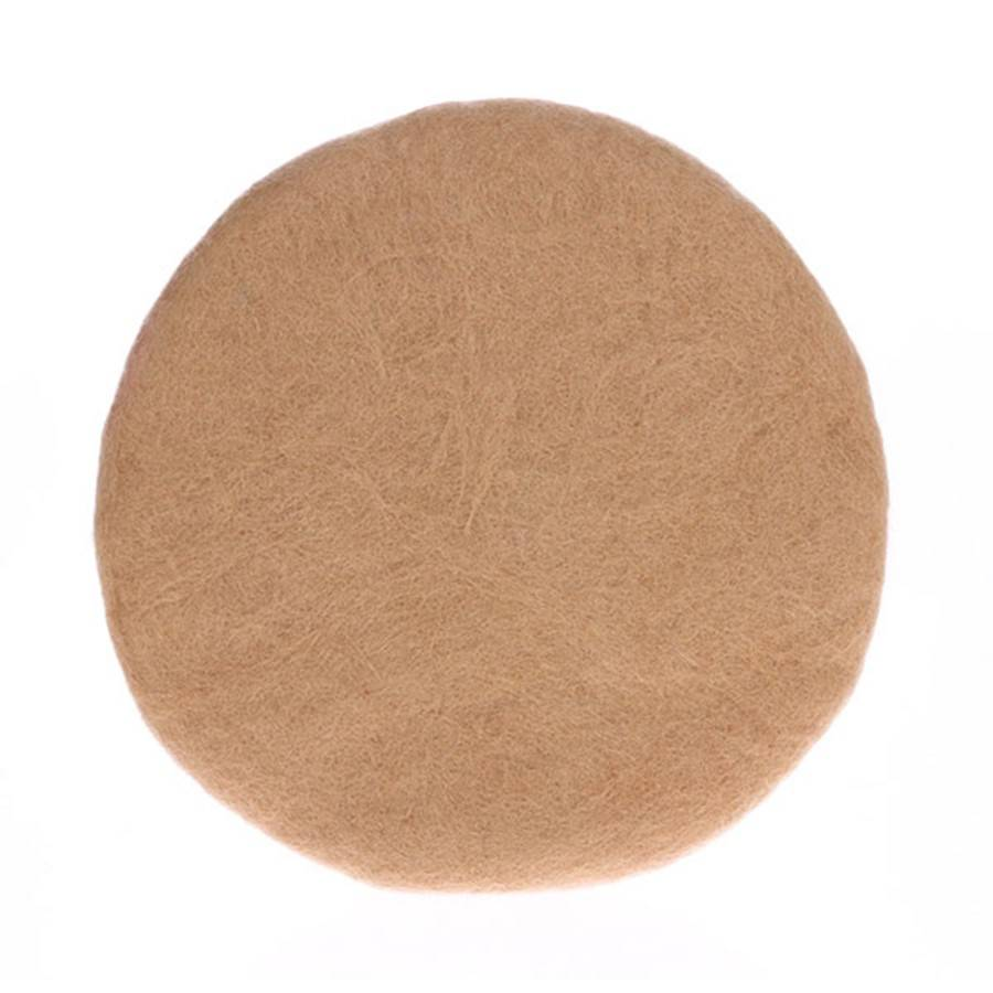 HK Living Felt seat cushion - camel - Ø35 - HK Living