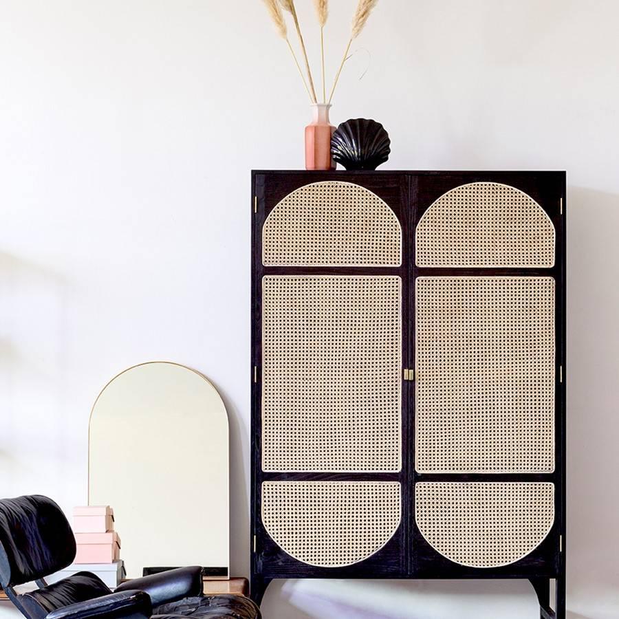 HK Living Arch wall mirror brass - 59,5x92cm - HK Living