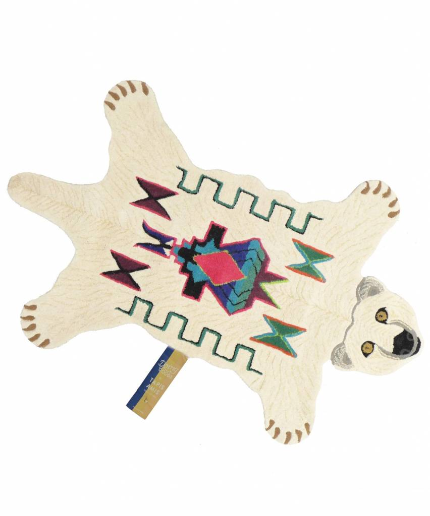 Doing Goods Tapis Kasbah ours polaire - 151x93xh2cm  - Doing Goods