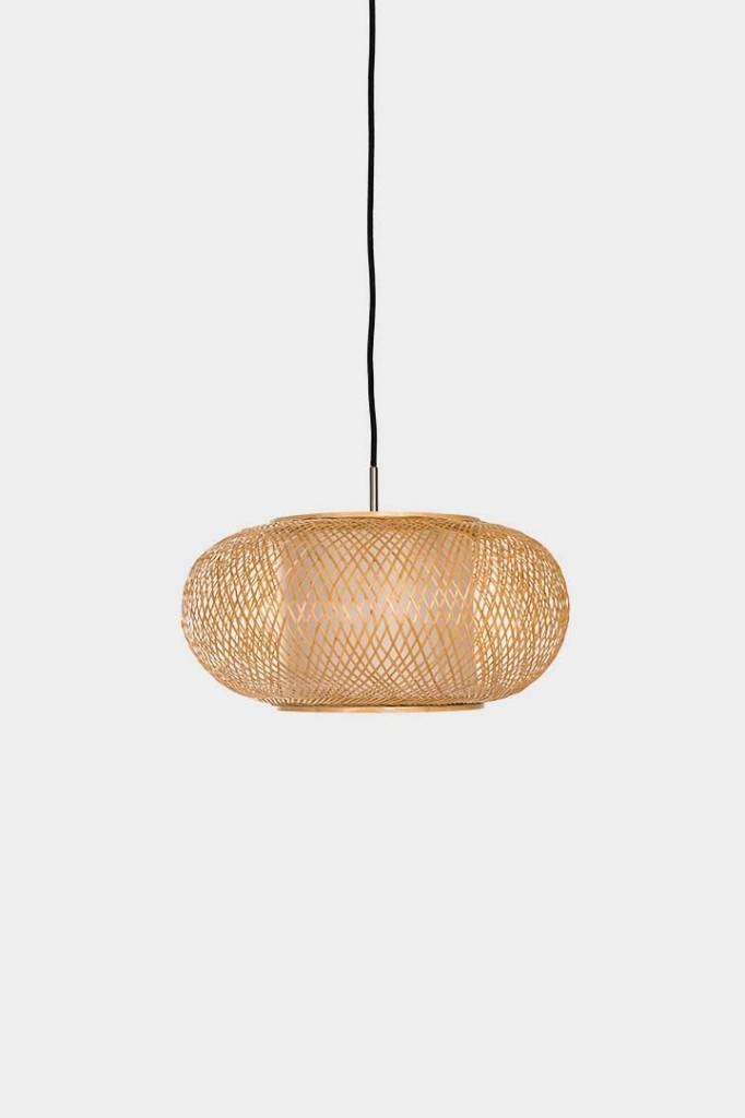 Ay Illuminate Bamboo Pendant Lamp Twiggy Al Shade - Natural - Ø40xh20cm - Ay illuminate