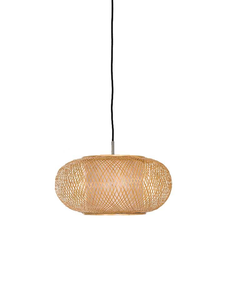 Ay Illuminate Lámpara de suspensión de bambú Twiggy Al Shade - Natural - Ø40xh20cm - Ay illuminate