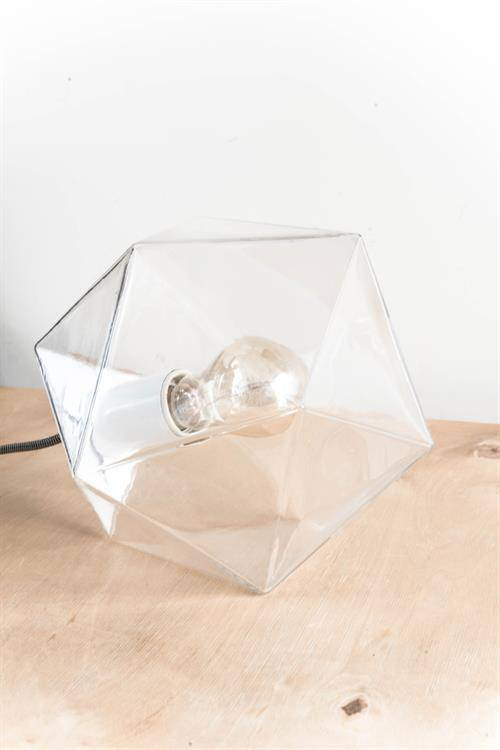 HK Living Hanging Lamp Geometric Diamond in Glass - 24 cm - HK Living