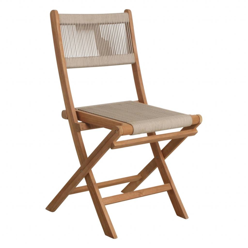 Rope Folding Bistro Chair Natural 47x40x88cm