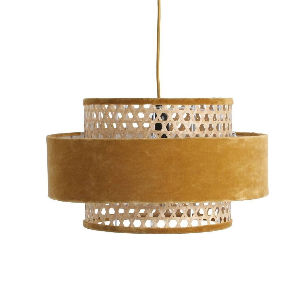 Petite Lily Interiors Velvet lamp cilinder small mustard - mustard - Ø40x29cm