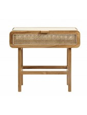 Nordal Console retro / table chevet  en cannage- 90x35xh80cm - nordal