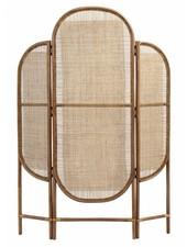 Nordal Room divider retro, rattan/weaving, natural colour - 130x3xh180cm - nordal