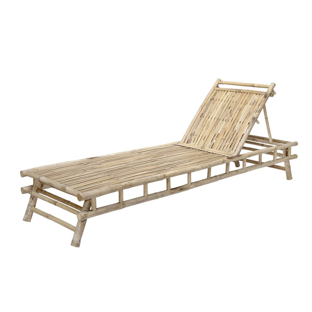 Bloomingville Bamboo sunbed with - L220xH33xW74 - Bloomingville