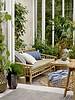 Bloomingville Banco al aire libre en bambu con cojín - natural - 175xA75x77 cm - Bloomingville