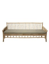 Bloomingville Bamboo lounge sofa with white mattress - Outdoor - L175xH75xW77cm - Bloomingville