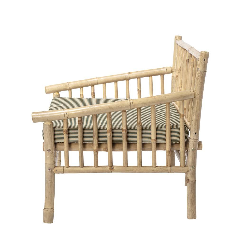 Bloomingville Sillón de bambú al aire libre - Natural - 80xA75x77cm - Bloomingville