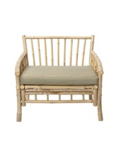 Bloomingville Bambou lounge chair with white mattrass - L80xH75xW77cm - Bloomingville