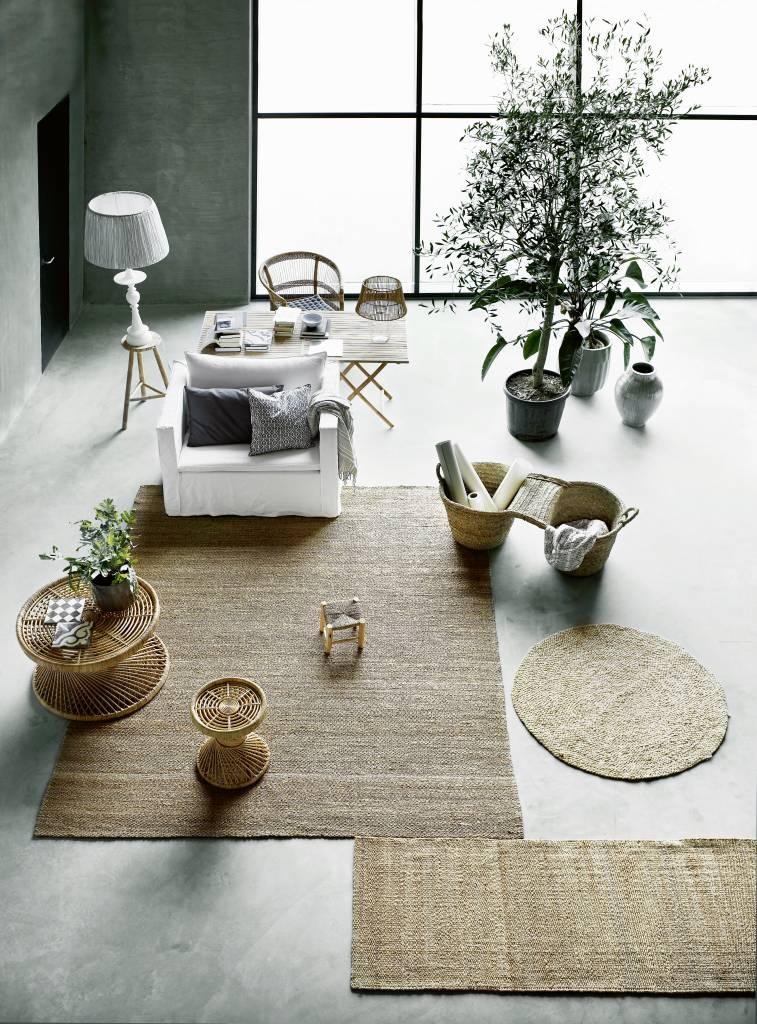 TineKHome Tapis toile de jute et chanvre - naturel - 140x200cm - Tine k Home