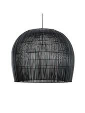 Ay Illuminate Suspension Bell Buri en fibre de palmiers - noir - Ø85xh85cm - Ay Illuminate