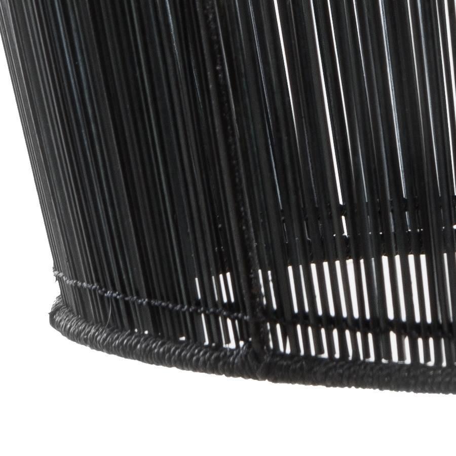 Ay Illuminate Suspension Bell Buri en fibre de palmiers - noir - Ø63xh47cm - Ay Illuminate