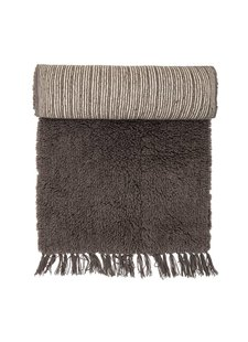 Bloomingville Alfombra de lana - marrón - 240x70cm - Bloomingville