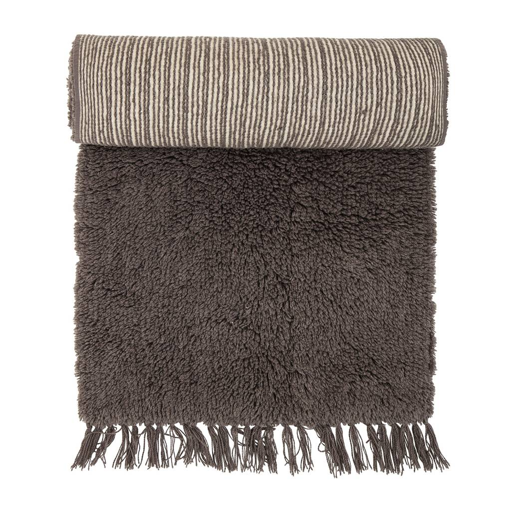 Bloomingville Brown rug in wool - 240x70cm - Bloomingville
