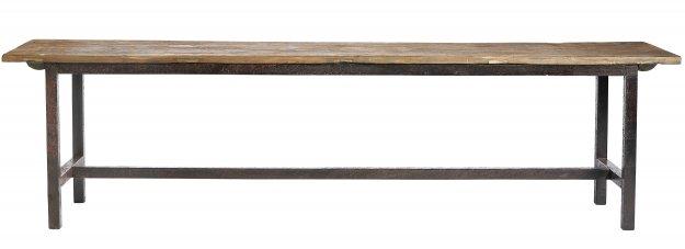 Nordal Banco Vintage/Industrial en madera y metal  - 170x30x45cm - Nordal