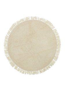 Bloomingville Alfombra ronda de lana - natural - Ø110cm - Bloomingville