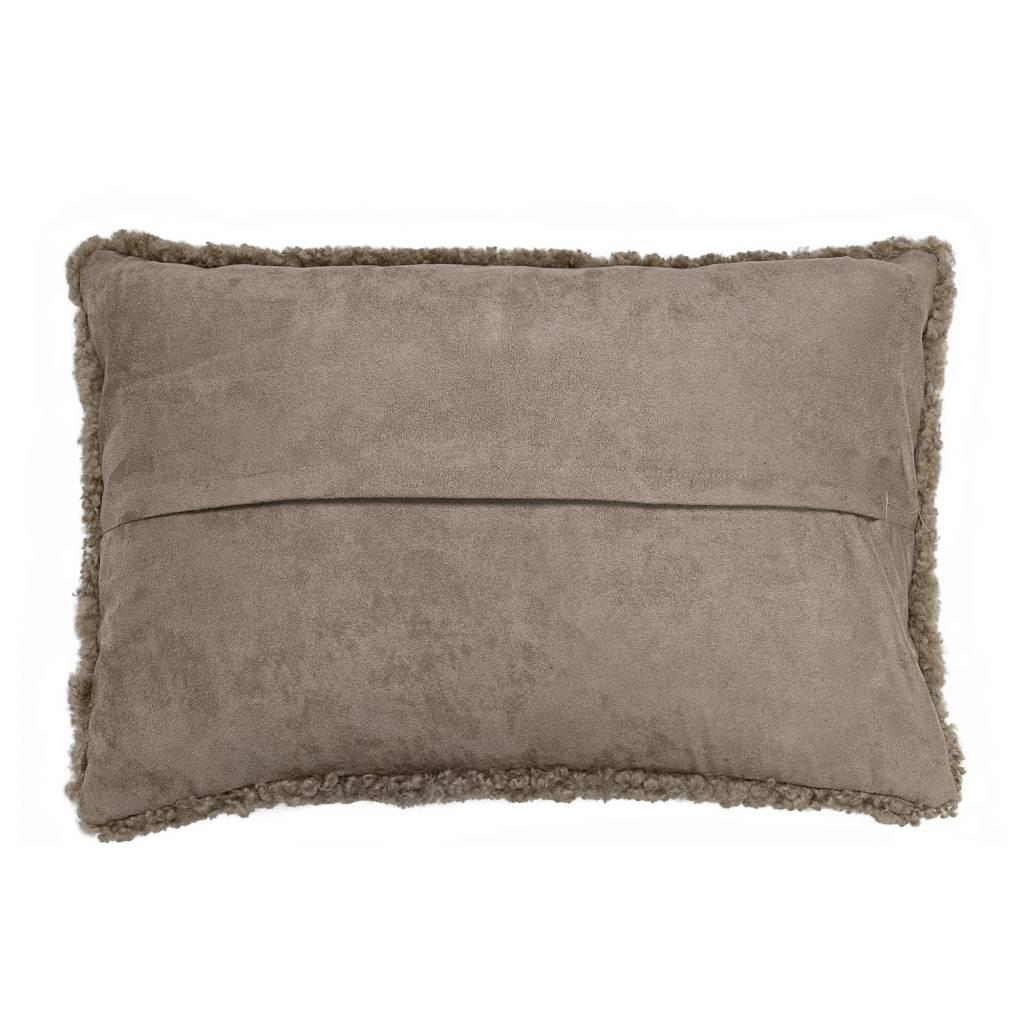 Bloomingville Cushion Sheepskin - L60xW40cm - brown - Bloomingville