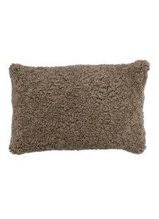 Bloomingville Coussin en peau de mouton - L60xW40cm - marron - Bloomingville