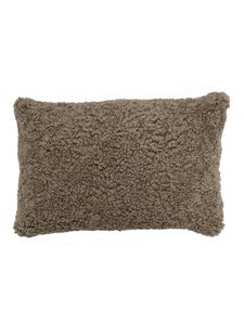 Bloomingville Cushion Sheepskin - L60xW40cm - brown - Bloomingville