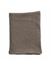 Bloomingville Blanket / Plaid cotton - brown - L180xW130cm - Bloominville