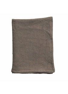 Bloomingville Manta / Plaid de algodón - marrón - 180x130cm - Bloominville