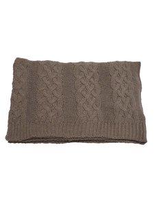 Evenaar knitted plaid - brown - 130x170cm - Evenaar