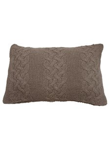 Evenaar Knitted cushion - 40x60cm - brown - Evenaar