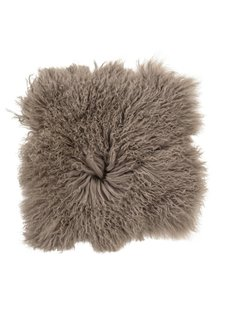 Bloomingville Seat Cover / Cushion Mongolia Sheepskin - 40x40cm - brown - Bloomingville