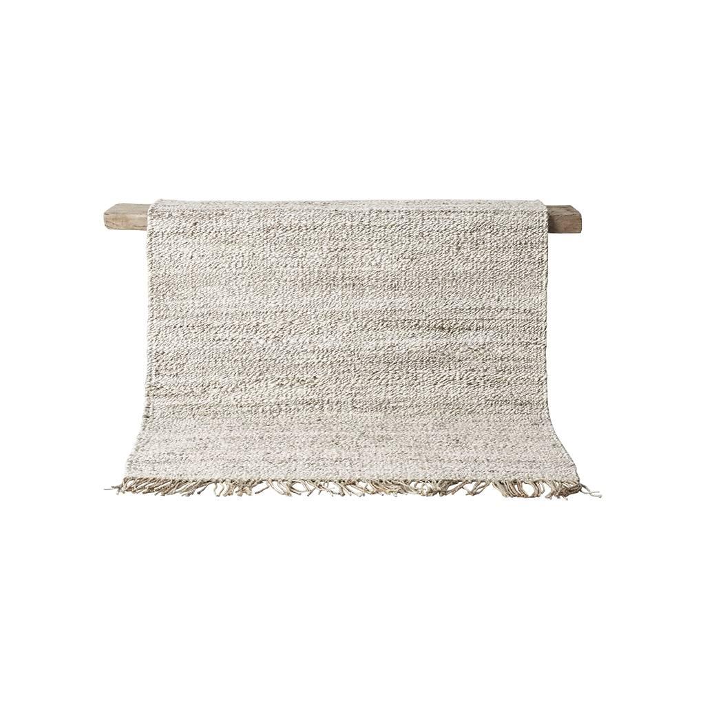 Tell me more Hemp rug Tie Mix - White / Cream / Gray - 140x200cm - Tell Me More