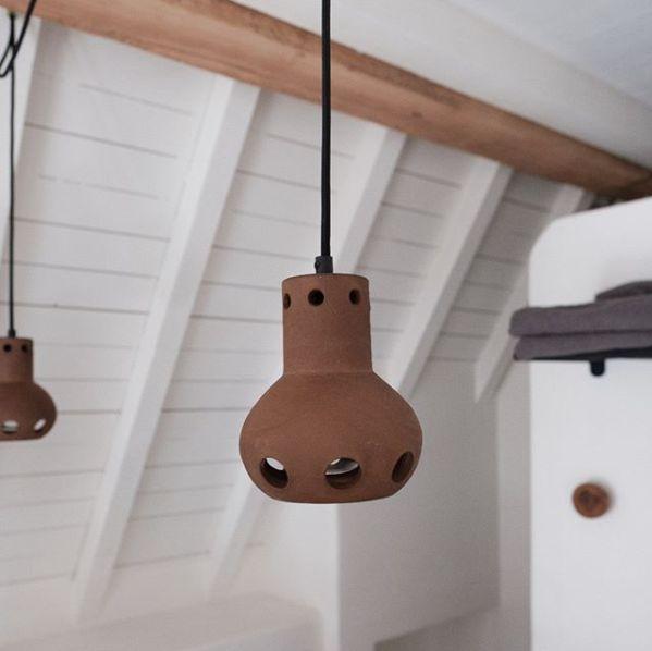 HK Living Terracotta pendant Lamp - Brown - Ø13xH15cm - HK Living