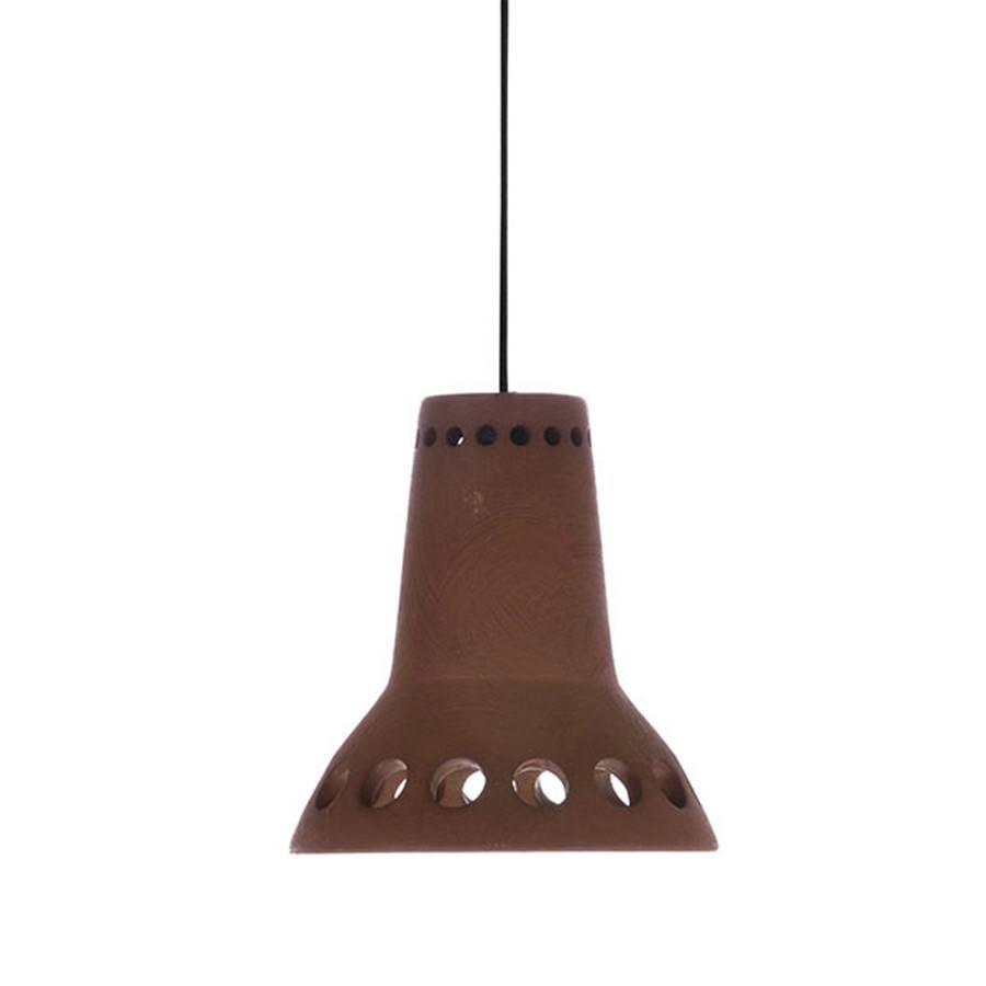 HK Living Terracotta pendant Lamp - Brown - Ø14xH14,5cm - HK Living