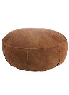 HK Living Puf de gamuza XL - marrón - Ø80xh20cm - HK Living