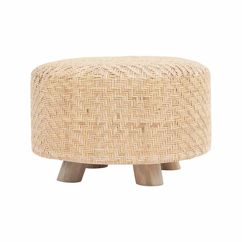 House Doctor Pouf weave round - natural - Ø60xh38cm - House Doctor
