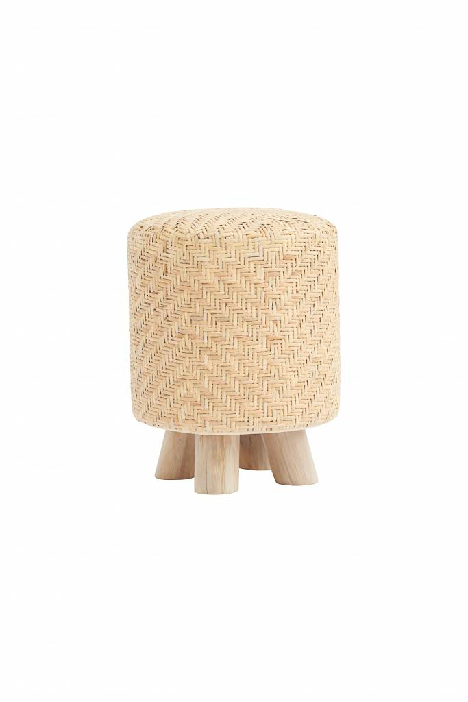 House Doctor Stool weave round - natural - Ø36xh46cm - House Doctor