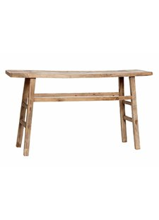 Snowdrops Copenhagen Console table / Desk - elm wood - 100-117x40-50x84cm