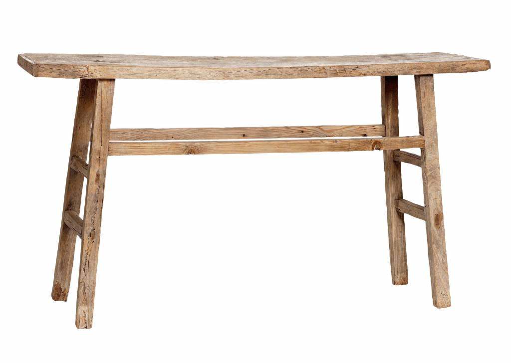 Snowdrops Copenhagen Console table / Desk - elm wood - 117x50x84cm - unique piece
